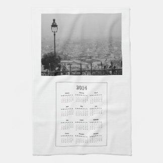 2014 Calendar Paris Kitchen Towel