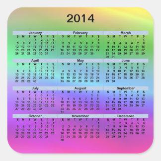 2014 Calendar Rainbow Sticker