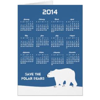 2014 Calendar - Save the Polar Bears Card