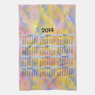 2014 Calendar_Sparks and Clouds Towel