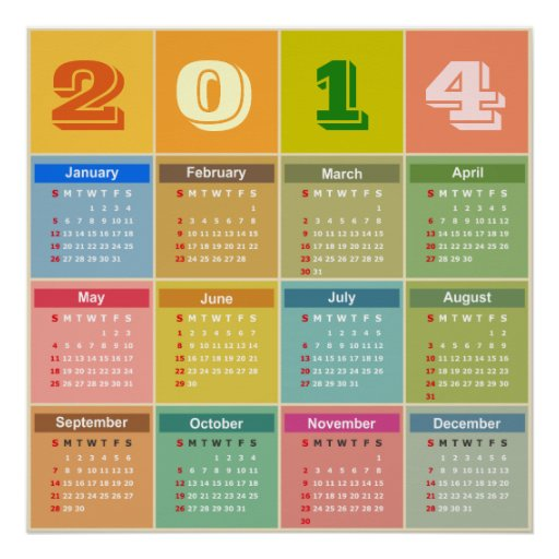 Calendar Poster Size : Calendar support small to extra large sizes poster