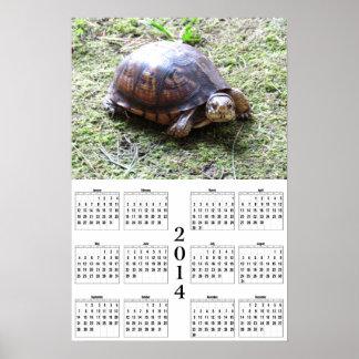 2014 Calendar - Turtle on Moss Poster