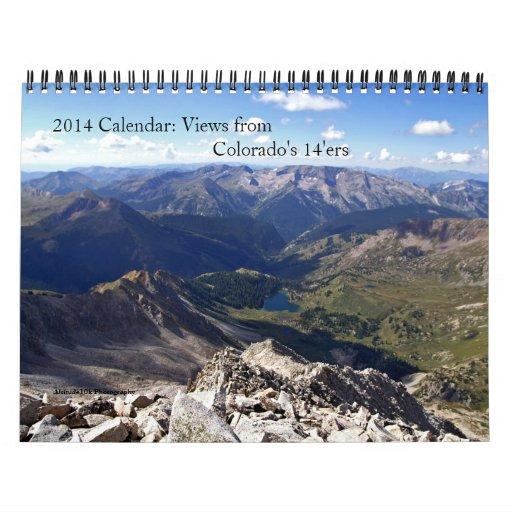 2014 Calendar: Views from Colorado 14'ers
