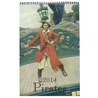 2014 Calendar, Vintage Pirates!