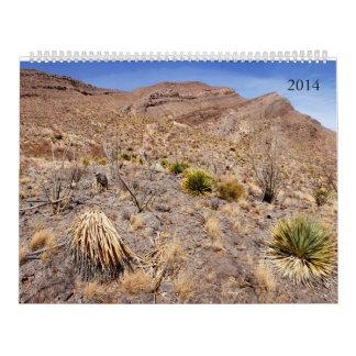 2014, calendario al sudoeste de New México