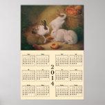 2014 calendario - conejitos posters