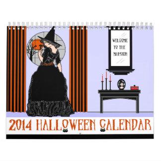 2014 calendario de Halloween, versión dos