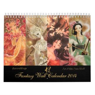 2014 calendario de la fantasía - arte de Mitzi