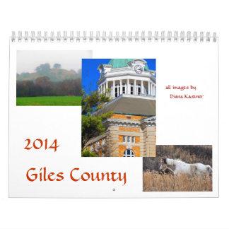 2014 calendario de la foto - el condado de Giles,