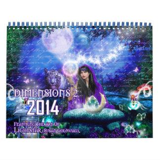 2014 calendario de las dimensiones 2