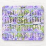 2014 calendario Kaleido violeta azul Mousepad Alfombrilla De Ratones