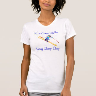 2014 Cheering for Skiing Winter Sports Skier Shirts