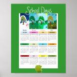 """2014 Classroom """"School Days"""" Calendar Poster"""