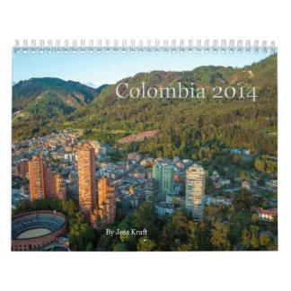 2014 Colombia Calendar