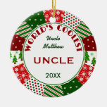 2014 COOLEST UNCLE or Any Name Ornaments