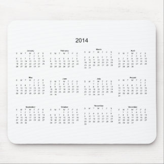 2014 Create it Yourself Calendar Mouse Pad