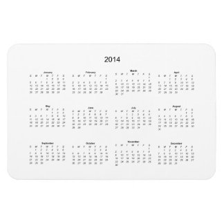 2014 Create it Yourself Calendar Rectangular Photo Magnet