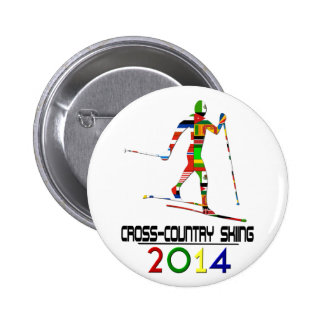 2014: Cross-Country Skiing Pinback Button