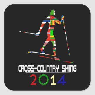 2014: Cross Country Skiing Square Sticker