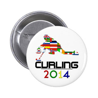 2014: Curling Pinback Button