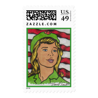 2014 D Smith SCOUTING Postage Stamp 14-010a