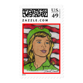 2014 D Smith SCOUTING Postage Stamp 14-010b