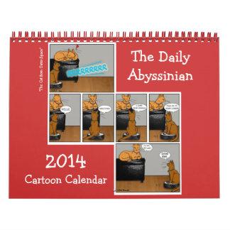 2014 Daily Abyssinian Cartoon Calendar