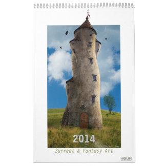 2014 Digital Surreal & Fantasy Art - Wall Calendar