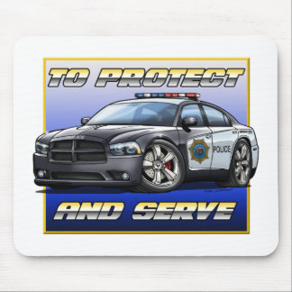 2014 Dodge Charger Police Car 1 Mouse Pad