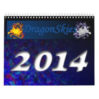 2014 Dragon Skies (12 month) Wall Calendar