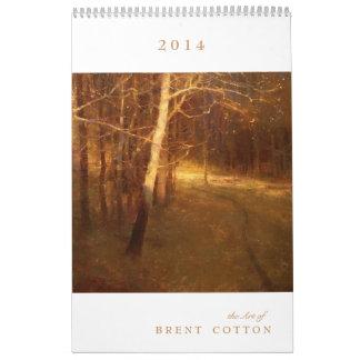 2014 el arte del ALGODÓN de BRENT Calendarios