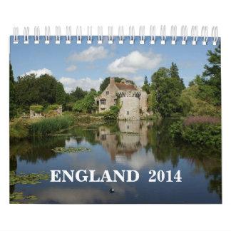 2014 England Calendar