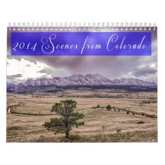 2014 escenas de Colorado Calendarios