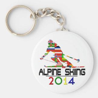 2014: Esquí alpino Llavero Personalizado