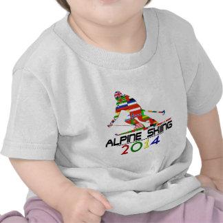 2014 Esquí alpino Camisetas