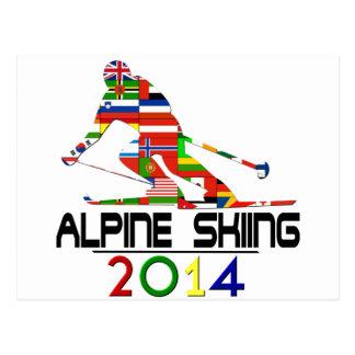 2014: Esquí alpino Postales