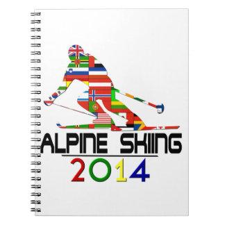 2014: Esquí alpino Spiral Notebooks