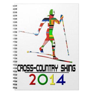 2014 Esquí de fondo Libros De Apuntes Con Espiral