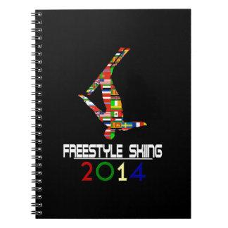 2014 Esquí del estilo libre Libro De Apuntes Con Espiral