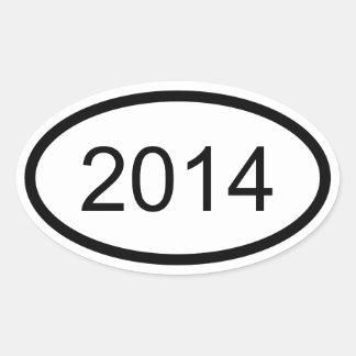 2014 Euro Style Oval Sticker