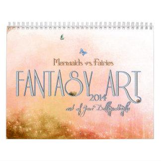 2014 Fairies vs Mermaids Calendar