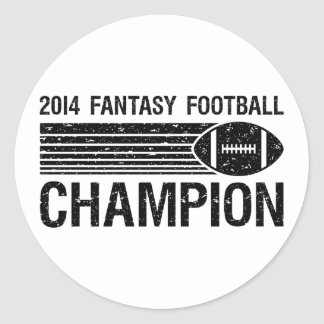 2014 Fantasy Football Champion 1 Classic Round Sticker