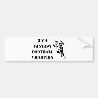 2014 Fantasy Football Champion 2 Bumper Sticker