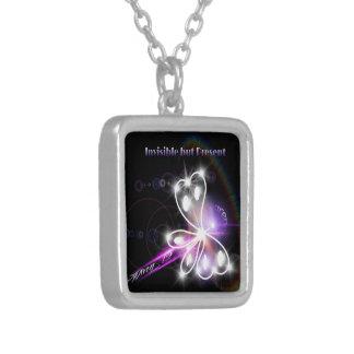 2014 Fibromyalgia Awareness Butterfly Pendant