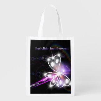 2014 Fibromyalgia Awareness Butterfly Reusable Grocery Bags