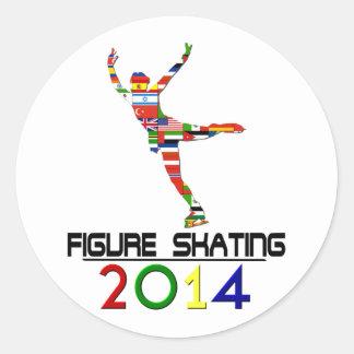 2014: Figure Skating Round Stickers