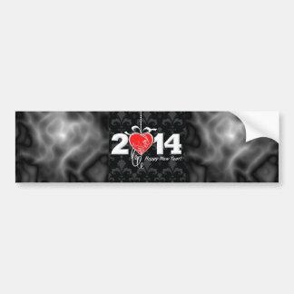 2014 Fleur de lis New Year Design Bumper Sticker