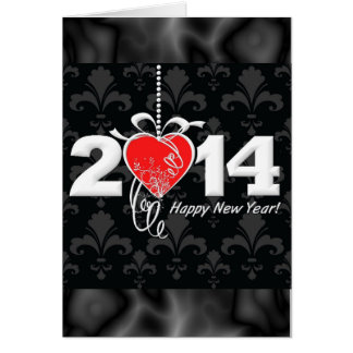 2014 Fleur de lis New Year Design Card