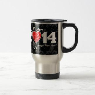 2014 Fleur de lis New Year Design Travel Mug