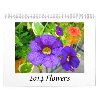 2014 flores calendarios de pared